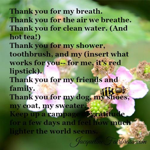 Destiny | Thank You | Gratitude | Jacqueline Fairbrass | Feeling Absolutely Fabulous | Bramble Cottage