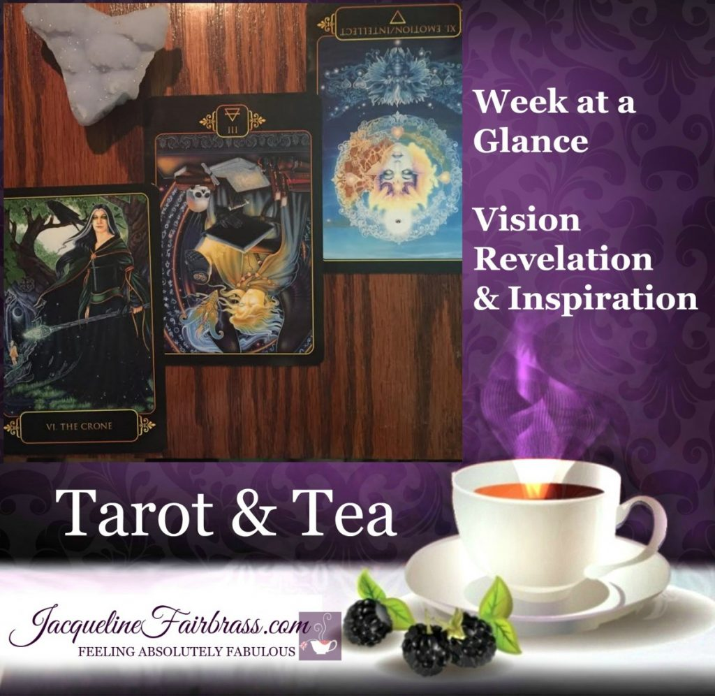 Self-accountability | Week at a Glance | Tarot & Tea | Jacqueline Fairbrass | Bramble Cottage SnoValley | The Crone | Three of Air Reversed | Eleven of Water Reversed