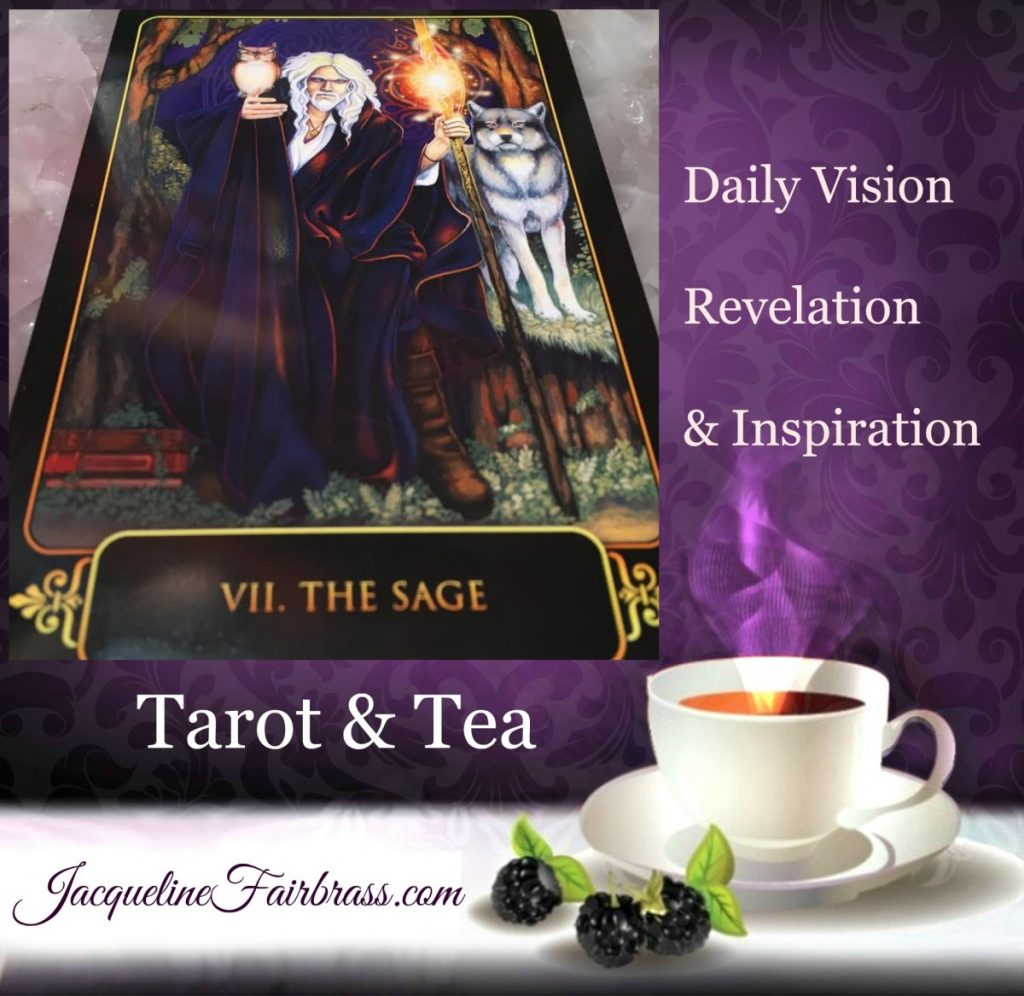 Sharing | The Sage | VII | Tarot & Tea | Feeling Absolutely Fabulous | Jacqueline Fairbrass |