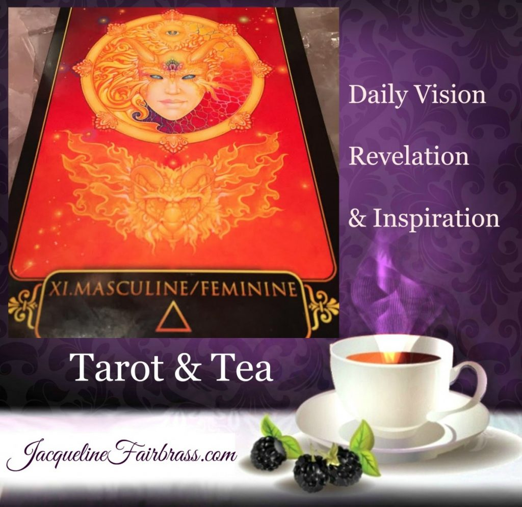 Divine | Healing | Eleven of Fire | Page of Wands | Tarot & Tea | Masculine/Feminine | Jacqueline Fairbrass | Feeling Absolutely Fabulous |