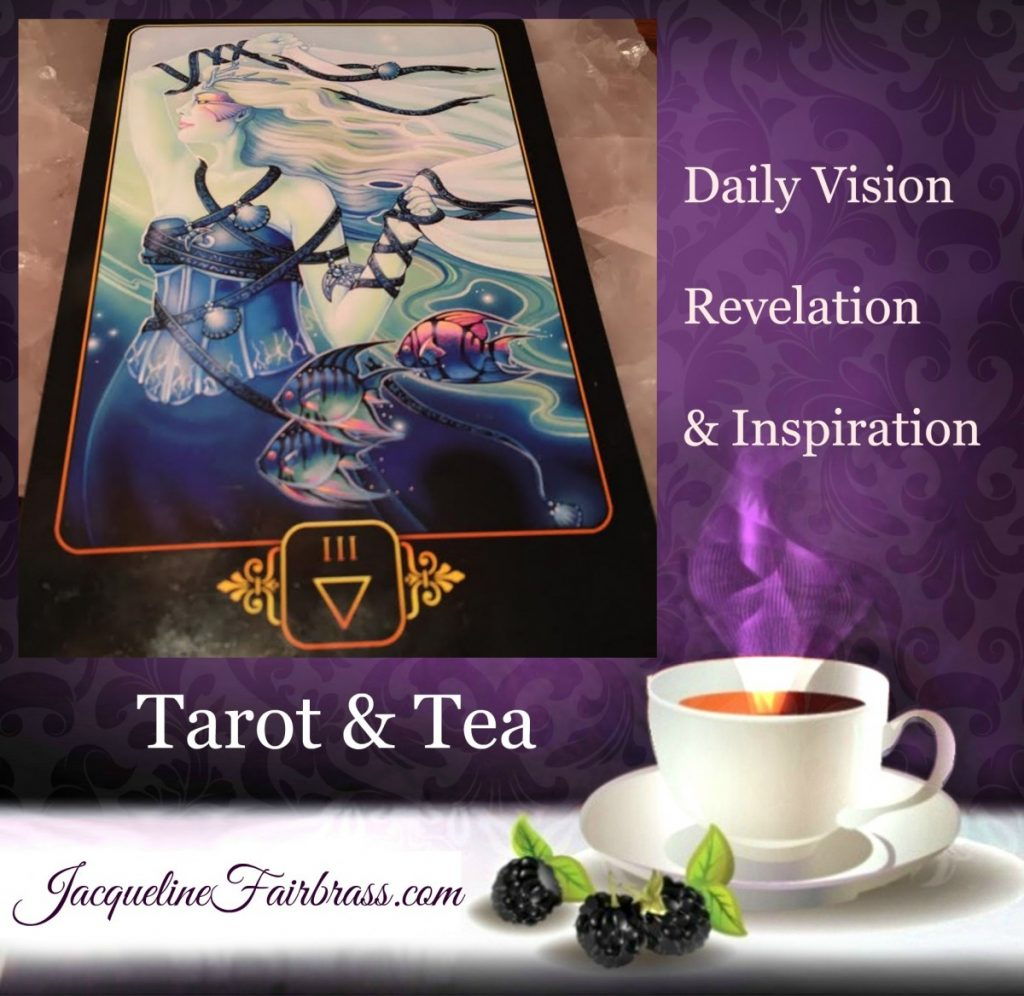 Satisfaction | Celebration | Three of Water | Three of Cups | Tarot & Tea | Feeling Absolutely Fabulous | Jacqueline Fairbrass