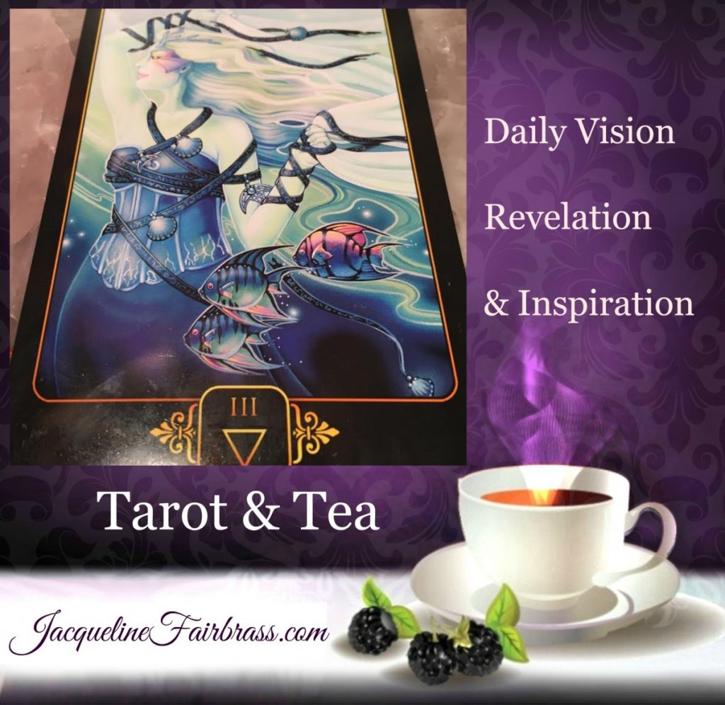 Contentment | Satisfaction | Celebration | Three of Water | Three of Cups | Feeling Absolutely Fabulous | Tarot & Tea | Jacqueline Fairbrass | Daily Oracle
