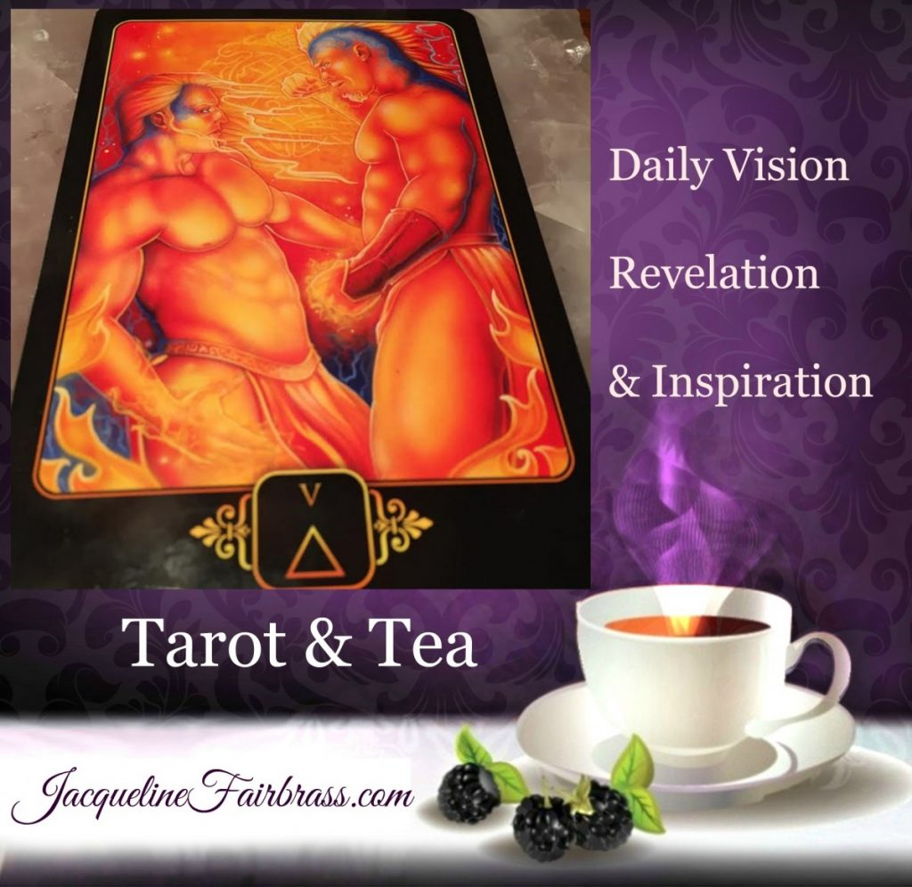 Aggression | Turmoil | Conflict | Tarot & Tea | Five of Fire | Feeling Absolutely Fabulous | Bramble Cottage | Jacqueline Fairbrass | Daily Oracle