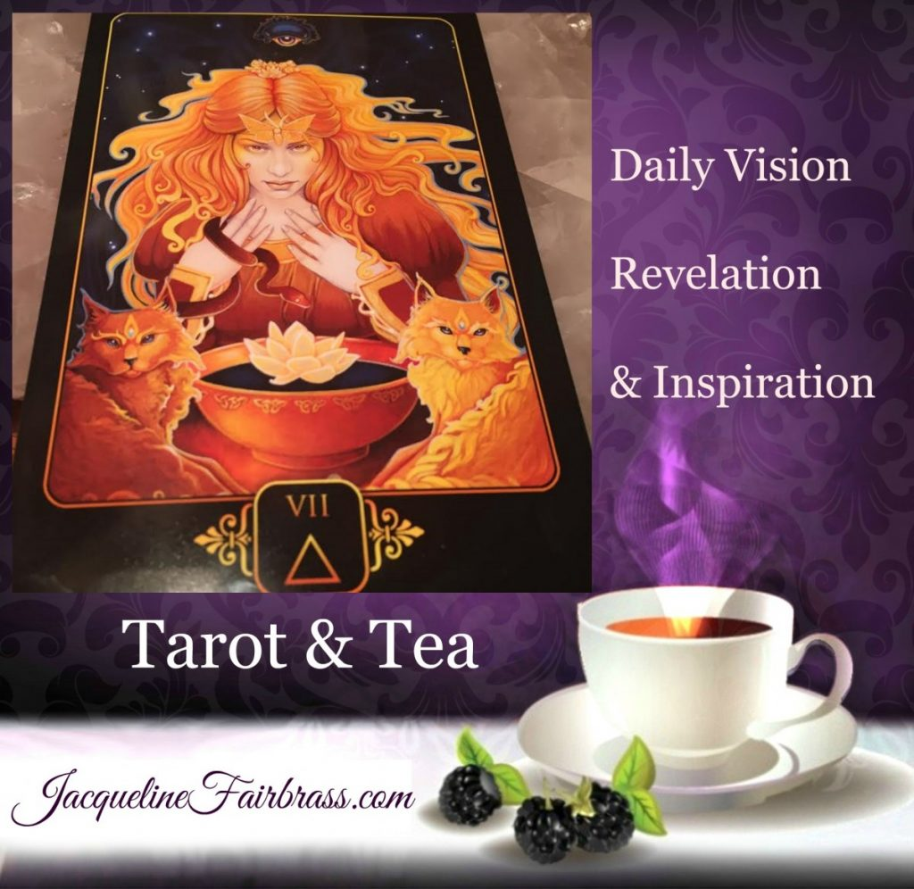 Intuition | ESP | Whispers | Seven of Fire | Tarot & Tea | Bramble Cottage | Feeling Absolutely Fabulous | Jacqueline Fairbrass | Daily Oracle