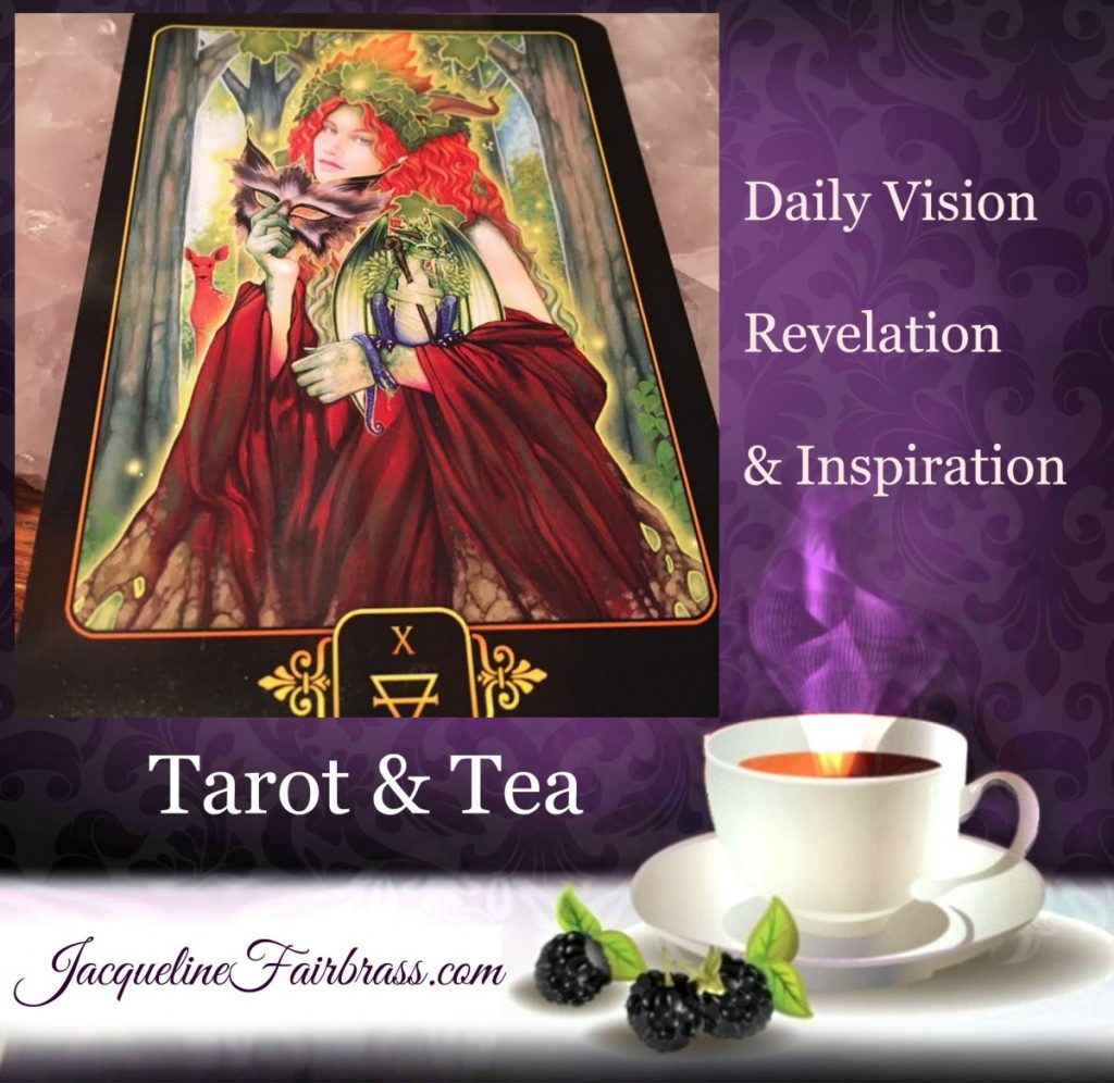 Reward | Ten of Earth | Reveal | Grace | Abundance | Tarot & Tea | Bramble Cottage Tea | Feeling Absolutely Fabulous | Jacqueline Fairbrass