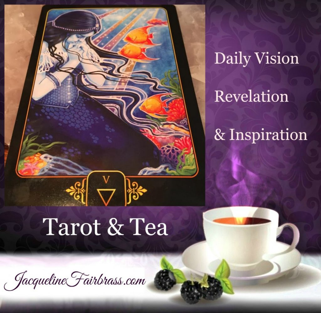 Confusion | Grief | Emotions | Five Water | Tarot & Tea | Feeling absolutely Fabulous | Daily Oracle | Jacqueline Fairbrass